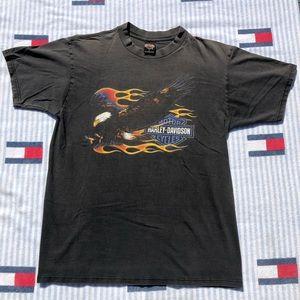 Vintage Harley Davidson eagle short sleeve shirt